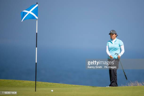 America's Jane Park putts out on the 3rd hole during day three of the Aberdeen Standard Investments Ladies Scottish Open at The Renaissance Club,...