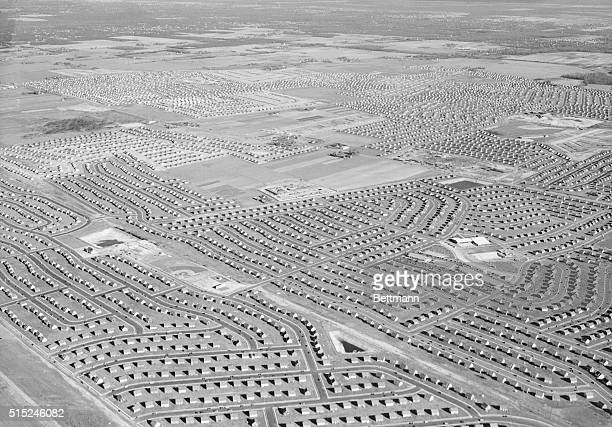 America's miracle in housing largest most complete lowcost development is Levittown which has sprung up from potato farmland on the outskirts of...