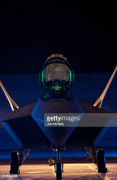 America's newest fighter jet the United States Air Force's F/A22 Raptor which will replace the F15 bomber and is the first supersonic stealth fighter...