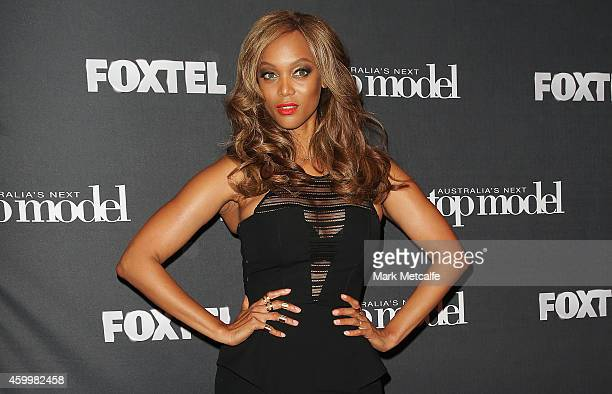 America's Next Top Model creator and host Tyra Banks appears at Carriageworks on December 5 2014 in Sydney Australia