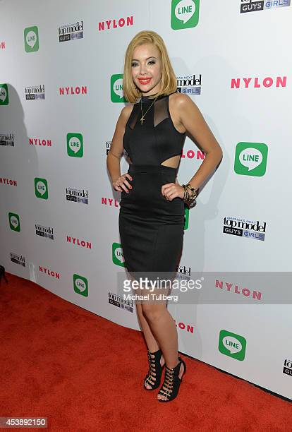 'America's Next Top Model' Cycle 21 finalist Mirjana Puhar attends the premiere party for Cycle 21 of 'America's Next Top Model' presented by NYLON...