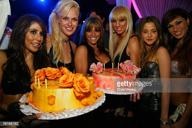 'America's Next Top Model' winner CariDee English actress Devon Aoki and members of the Las Vegas Pussycat Dolls attend Aoki's birthday party at PURE...