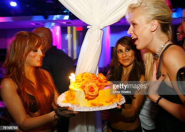 'America's Next Top Model' winner CariDee English attends Devon Aoki's birthday party at PURE Nightclub on August 17 2007 in Las Vegas Nevada