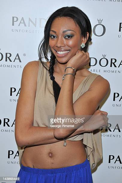 America's next top models visit PANDORA Gift Lounge At ANTM Live In Toronto on May 4 2012 in Toronto Canada