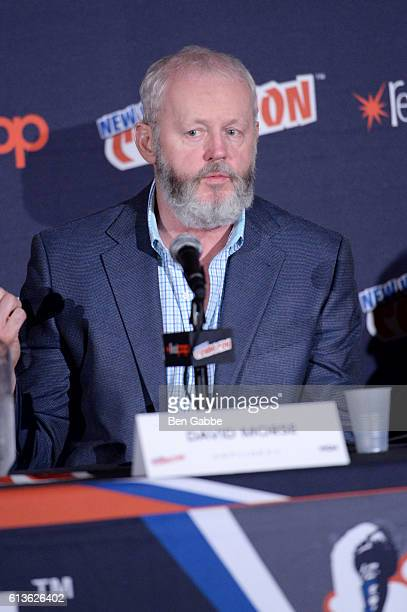 America's Outsiders star David Morse speaks during panel discussion at New York Comic Con 2016 at Jacob Javits Center on October 9 2016 in New York...