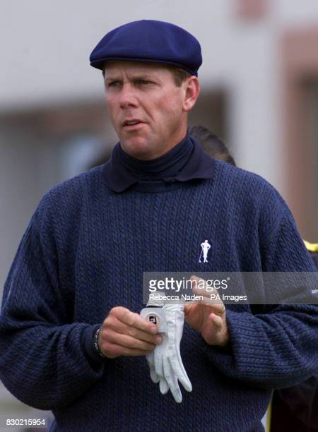 America's Payne Stewart on the 1st tee during the first day of the 1999 British Open Golf Championship at Carnoustie Scotland where he finished eight...