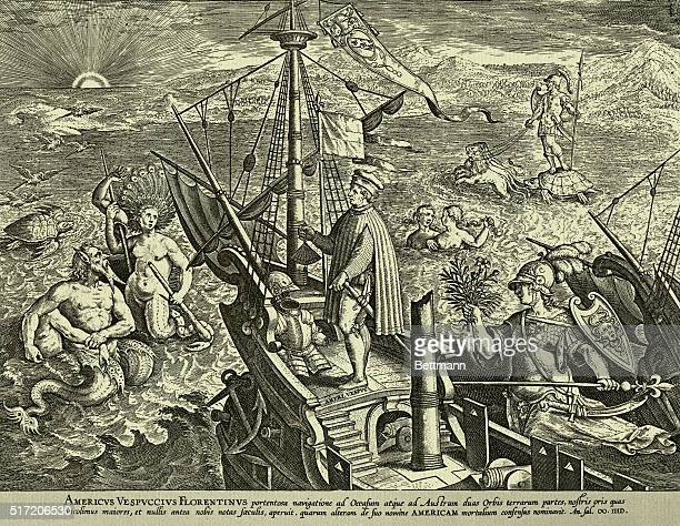 Americus Vespucci of Florence in a marvelous expedition to the West and to the South opened up two parts of the Earth greater than the shores which...