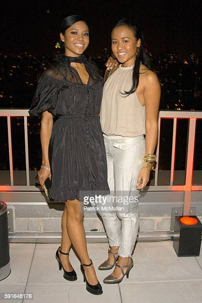 Amerie and Angela Rogers attend YVES SAINT LAURENT and BERGDORF GOODMAN private dinner to honor STEFANO PILATI at Trump Park Avenue on November 1...