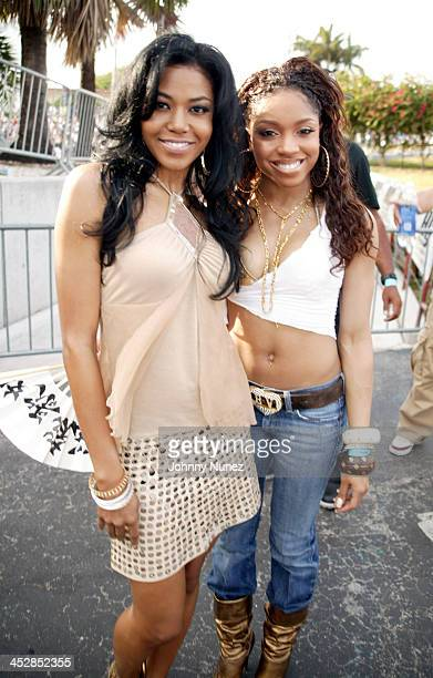 Amerie and Brooke Valentine during Miami Spring Fest 2005 at BayFront Park in Miami Florida United States