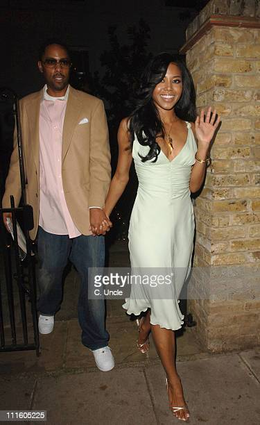 Amerie and guest during Project Red Aid for Africa Party September 20 2006 at Private Residence in London Great Britain