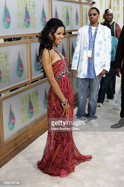 Amerie during 2005 MTV Video Music Awards Arrivals at American Airlines Arena in Miami Florida United States