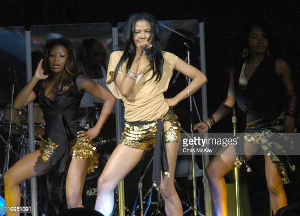 Amerie during Amerie in Concert at Verizon Wireless Amphitheatre in Charlotte July 22 2005 at Verizon Wireless Amphitheatre in Charlotte North...