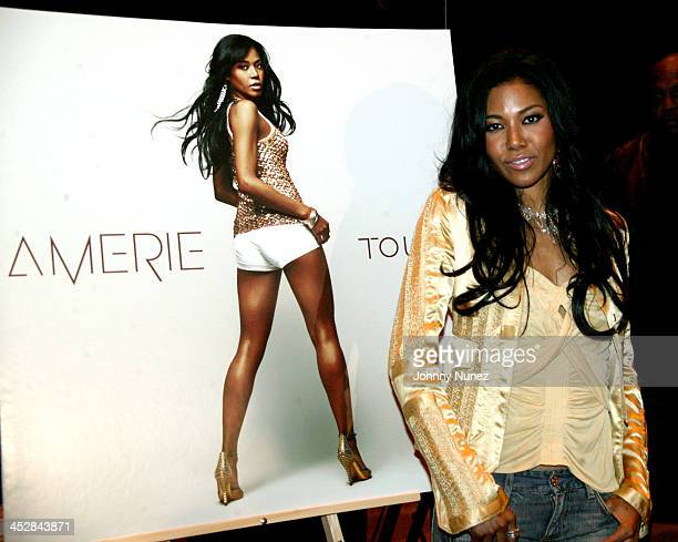 Amerie during Amerie Signs Her Album Touch at Virgin Megastore in New York City April 26 2005 at Virgin Megastore in New York City New York United...