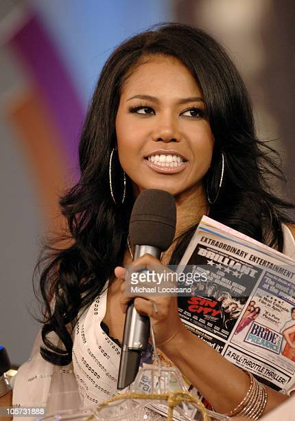 Amerie during Amerie Visits MTV's 'TRL' April 22 2005 at MTV Studios Times Square in New York City New York United States