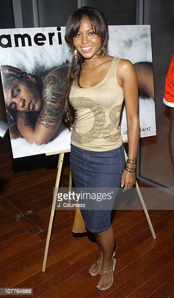 Amerie during Damon Dash and Amerie celebrate the Summer Issue of AMERICA MAGAZINE at Ruby Falls in New York City New York United States