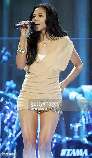 Amerie during Destiny's Child 'Destiny Fulfilled' Tour in Los Angeles September 2 2005 at Staples Center in Los Angeles California United States