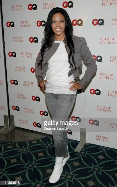 Amerie during GQ Hosts a Special Screening of 'Get Rich or Die Tryin' Inside Arrivals at Loews 19th Street East Theatre in New York City New York...