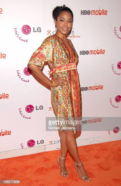 Amerie during Launch of HBO Mobile May 31 2005 at Mr Chow Tribeca in New York City New York United States