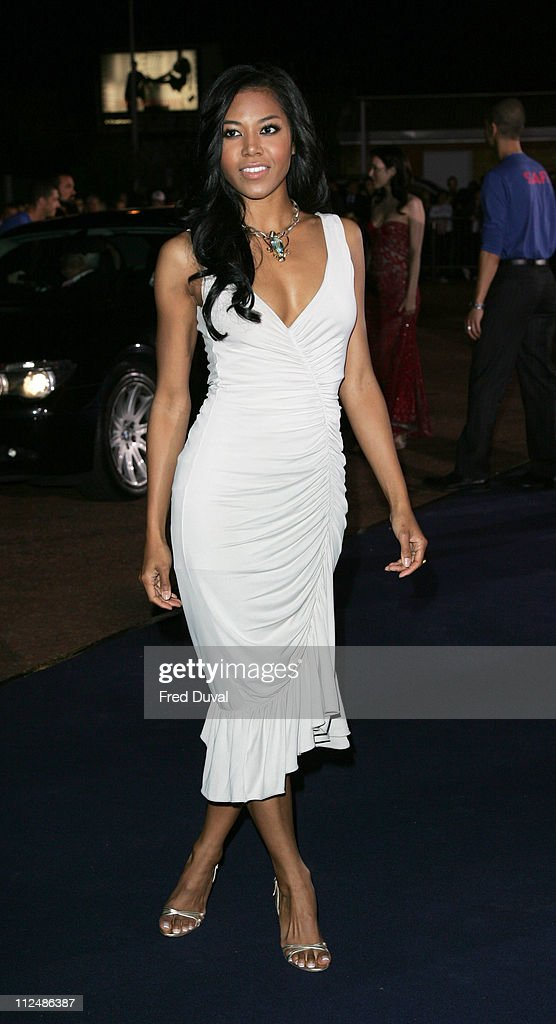 Amerie during London Fashion Week Spring/Summer 2007 - Emporio Armani 'One Night Only' - Arrivals at Earls Court in London, Great Britain.