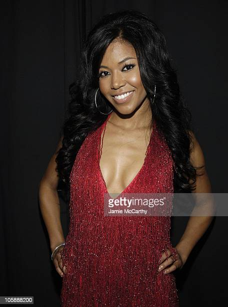 Amerie during Olympus Fashion Week Fall 2006 Heart Truth Red Dress Backstage at Bryant Park in New York City New York United States