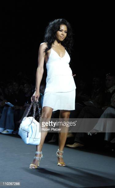 Amerie during Olympus Fashion Week Spring 2006 Fashion For Relief Runway at The Tents at Olympus Fashion Week in New York New York United States