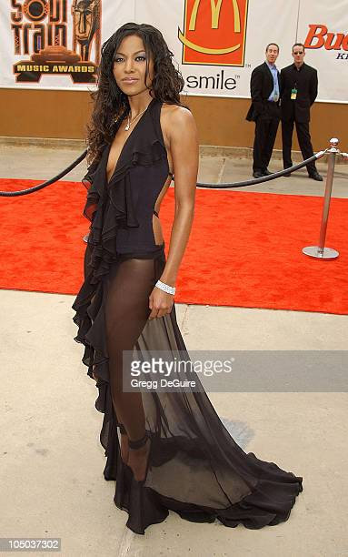Amerie during The 17th Annual Soul Train Music Awards Arrivals at Pasadena Civic Auditorium in Pasadena California United States