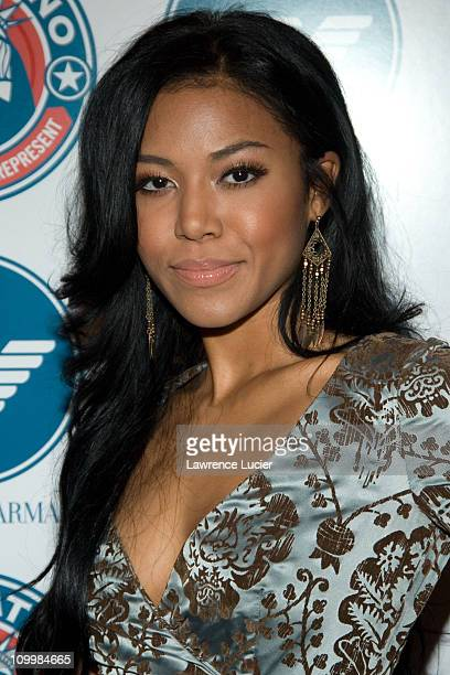 Amerie during Voto Latino 1st Anniversary Hosted by Rosario Dawson at Emporio Armani in New York City New York United States