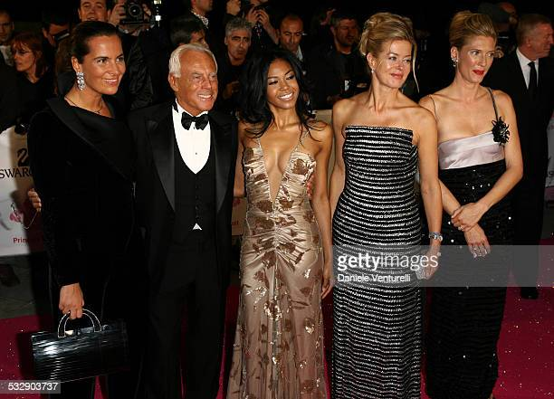 Amerie Giorgio Armani and Lady Helen Windsor during Swarovski Fashion Rocks for the Prince's Trust Red Carpet Arrivals at Forum Grimaldi in Monte...