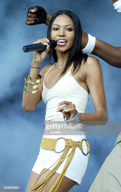 Amerie in Concert during 'Nellyville' Tour 2002 San Francisco at Shoreline Amphitheatre in Mountain View California United States