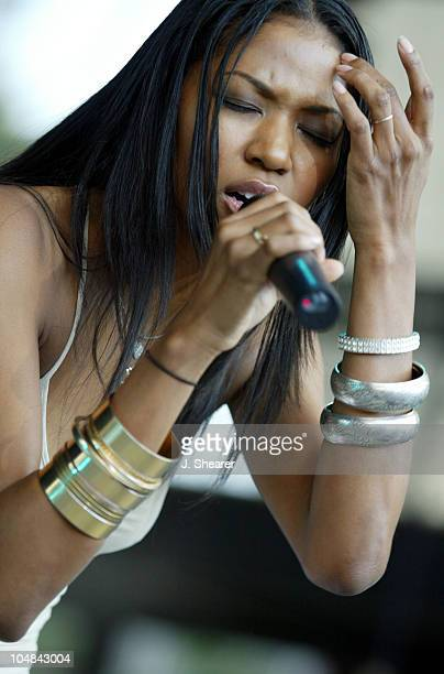 Amerie in Concert during Nellyville Tour 2002 San Francisco at Shoreline Amphitheatre in Mountain View California United States