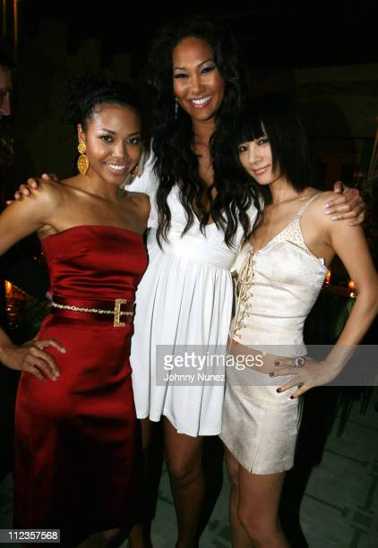 Amerie Kimora Lee Simmons and Bai Ling during Kimora Lee Simmons Presents KLS Fall 2007 Collection Inside at Social Hollywood in Los Angeles...
