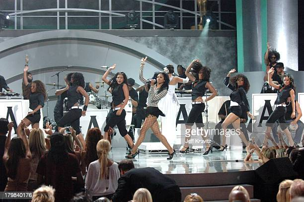 Amerie performs 1 Thing during 2005 World Music Awards Show at Kodak Theater in Hollywood California United States