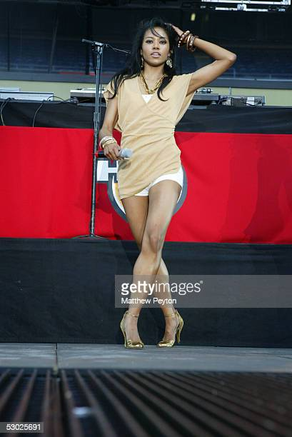 Amerie performs at the Hot 97 Summer Jam 2005 Concert June 5 2005 at Giant Stadium in East Rutherford New Jersey