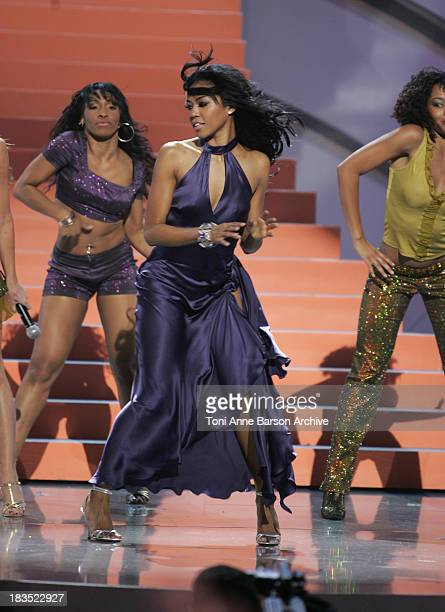 Amerie performs during 2005 World Music Awards Show at Kodak Theatre in Los Angeles CA United States