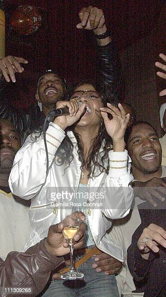 Amerie performs during Damien Robinson's Birthday Party at Lotus at Lotus in New York City New York United States
