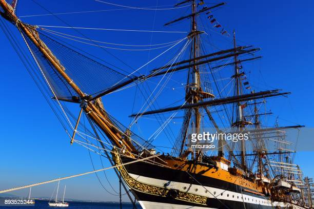Amerigo Vespucci, a tall ship of the Italian Navy, Lisbon, Portugal
