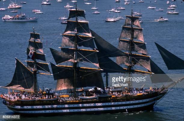 Amerigo Vespucci italian schooner on July 4 1986 in New York New York