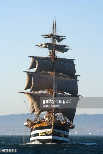 amerigo vespucci - pirate ship stock photos and pictures