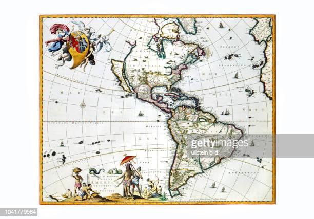 Amerika 1682 Von Nicolaas Visscher Amsterdam 1682