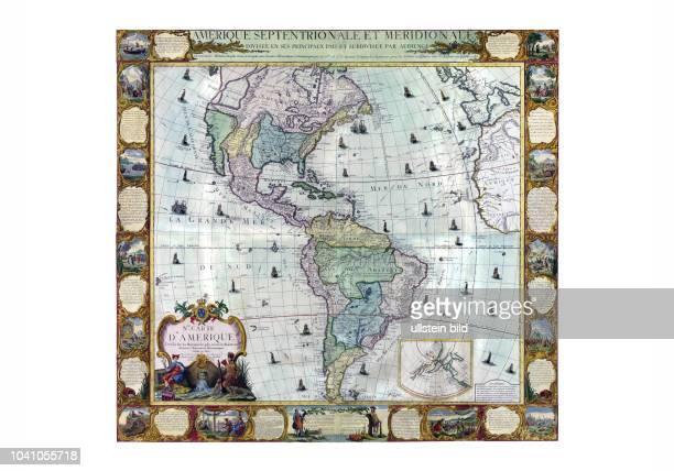 Amerika 1781 Nouvelle Carte d'Amérique dessée sur les memoires les plus récens et assujetie aux derni<eres Oberservation Astronomiques par LC...