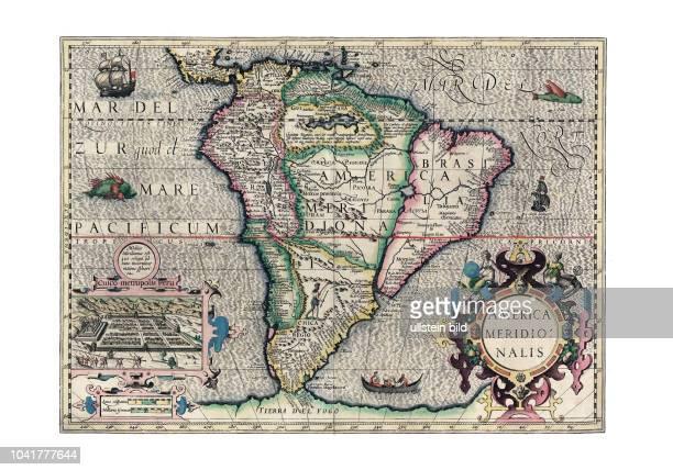 AmerikaSued 1606 Von Gerhard Mercator Amsterdam 1606