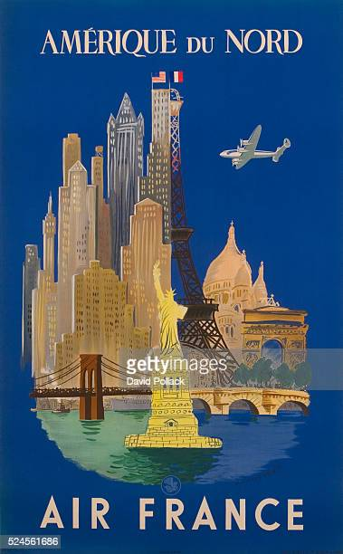Amerique du Nord Air France Poster by Luc Marie Bayle