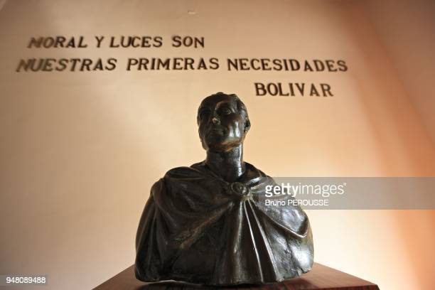 Amerique du Sud Venezuela Etat de Bolivar Ciudad Bolivar Maison du Congres d'Angostura Buste de Simon Bolivar