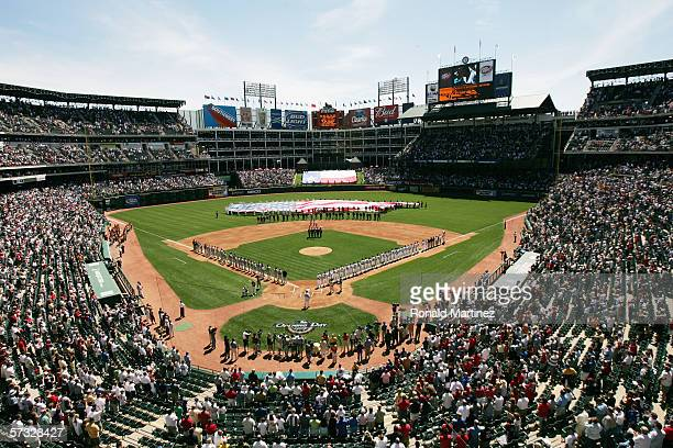 Ameriquest Field in Arlington is shown before the Opening Day game between the Texas Rangers and Boston Red Sox on April 3 2006 in Arlington Texas...