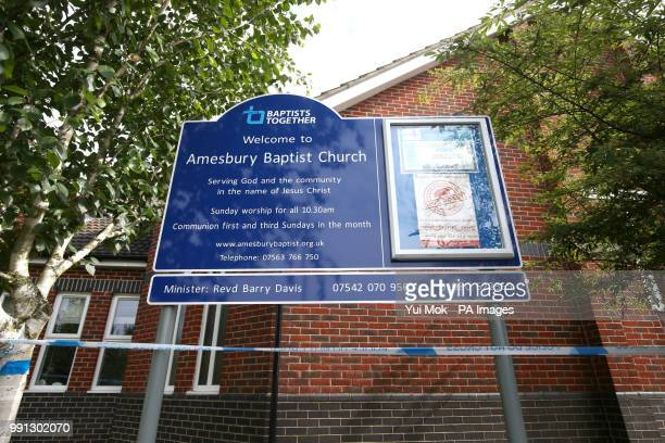 Amesbury Baptist Centre in Amesbury Wiltshire where a major incident has been declared after it was suspected that two people might have been exposed...