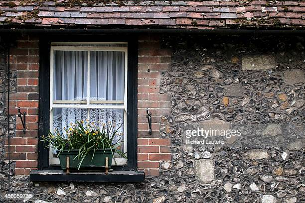 Amesbury Great Britain April 10 A house in Amesbury shows off it's ancient flint walls At the outbreak of WW1 most Canadian soldiers came over to...