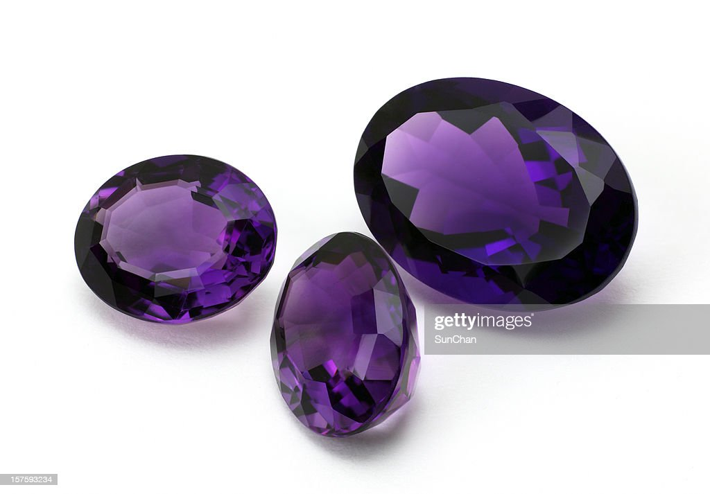 Amethyst gemstone : Stock Photo
