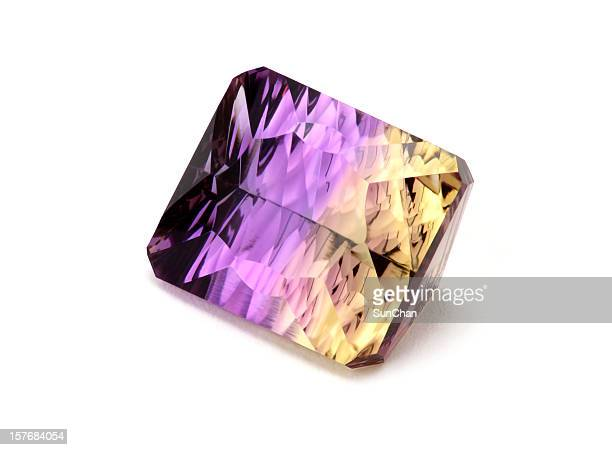 ametrine gemstone - amethyst stock pictures, royalty-free photos & images