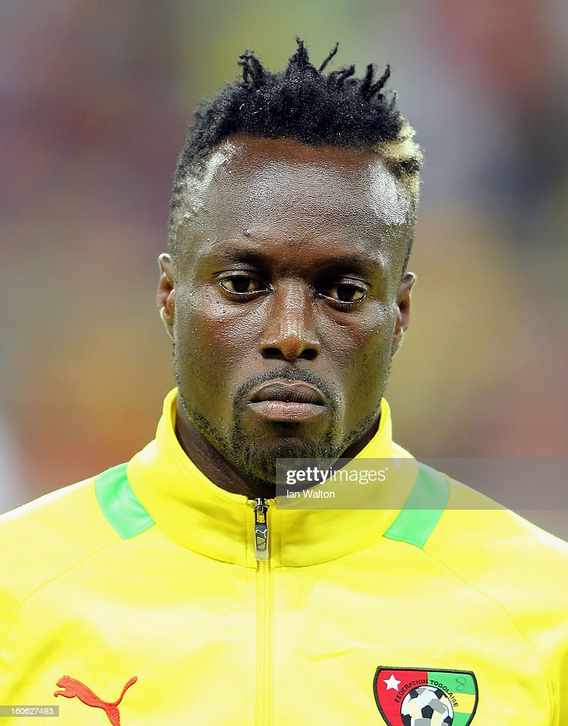 Amewou Komlann of Togo during the 2013 Africa Cup of Nations Quarter-Final match between Burkina Faso and Togo at the Mbombela Stadium on February 3, 2013 in Nelspruit, South Africa.
