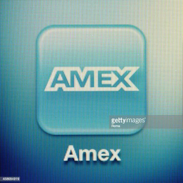 amex - bank icon stock-fotos und bilder